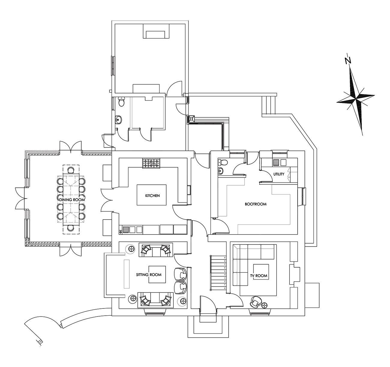 Manor Farmhouse - Ground Floor