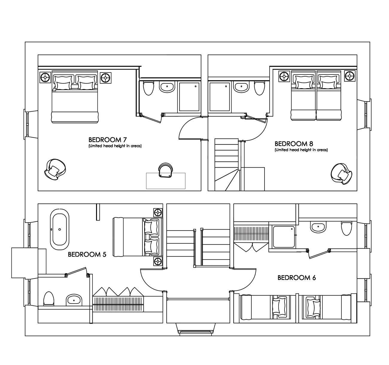 Manor Farmhouse - Second Floor